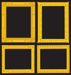 gold picture frames vector image vector image