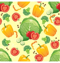 green vegetables seamless vector image