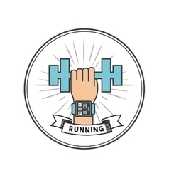 running and sport design vector image
