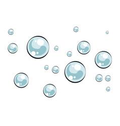 soap bubbles pop art vector image