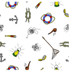 colorful seamless pattern in doodle stylehand vector image vector image