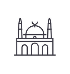 islam mosque line icon sign vector image