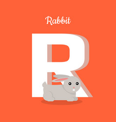 animals alphabet letter - r vector image vector image