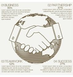 business infographics handshake vector image vector image