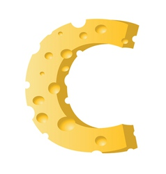 cheese letter C vector image vector image