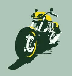 harleycustom bike back view vector image