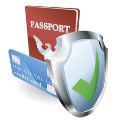 personal identity security vector image vector image