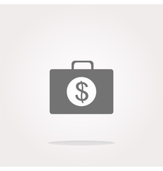 us dollar glossy icon on white background vector image vector image