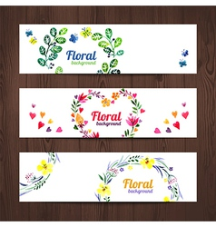 Watercolor invitation card with floral bouquet vector image vector image