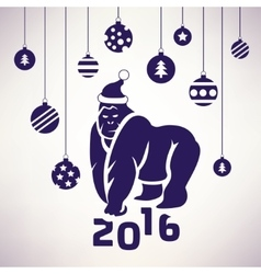 2016 the year of the monkey symbol vector image
