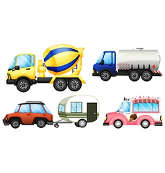 A set of cars vector