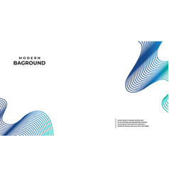 abstract banner bag round colors and lines in vector image