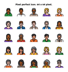 avatar diversity of race gender age and dressing vector image