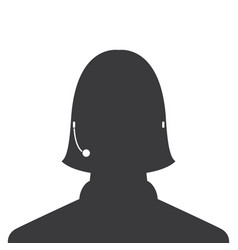 avatar head profile silhouette call center female vector image
