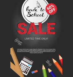 back to school seasonal sale poster shopping vector image