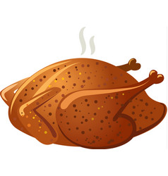 baked roasted chicken vector image