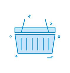 basket icon design vector image