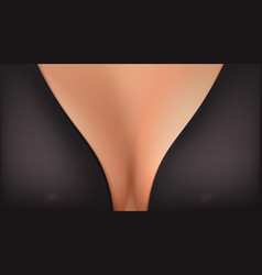 Big breasts in elegant bra female black bra vector