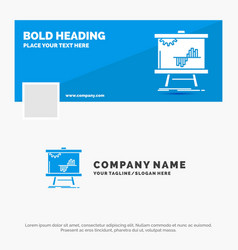 blue business logo template for business chart vector image