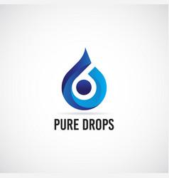 blue drops logo sign symbol icon vector image