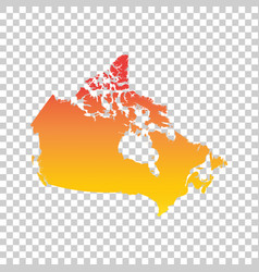 Canada map colorful orange vector