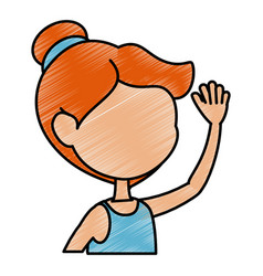 cartoon girl icon vector image