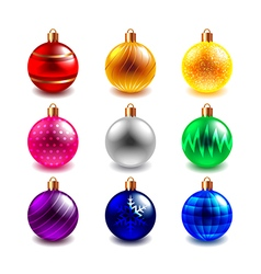 Christmas ball set vector image