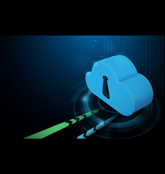 cloud data storage with technology background vector image