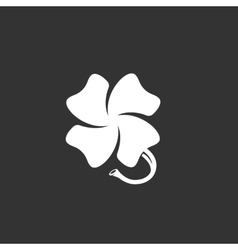 Clover logo on black background icon vector image