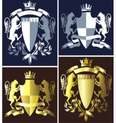 coat of arms heraldry vector image
