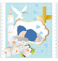 Composition for holy baptism vector