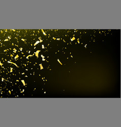 confetti falling motion background shiny gold vector image