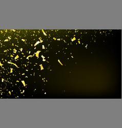 confetti falling motion background shiny gold vector image
