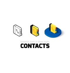 Contacts icon in different style vector image