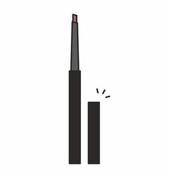 Cosmetic makeup pencil icon vector