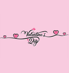 creative happy valentines day greeting design vector image