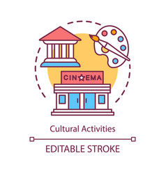 Cultural activities concept icon leisure pastime vector