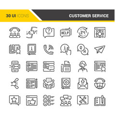 Customer service icons vector