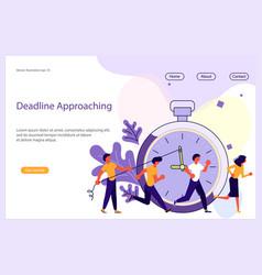 deadline approaching website template vector image