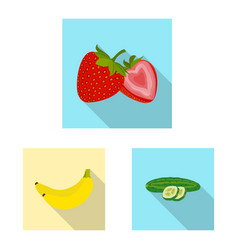 design of vegetable and fruit symbol set vector image