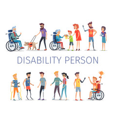 Disabled and injured people live normal lives vector