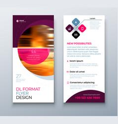 dl flyer design business template for dl flyer vector image