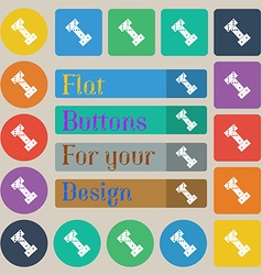 Domino icon sign Set of twenty colored flat round vector