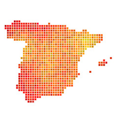 Dotted fire spain map vector