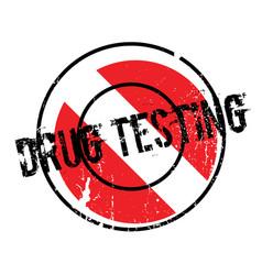Drug testing rubber stamp vector