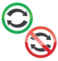 Exchange permission signs set vector