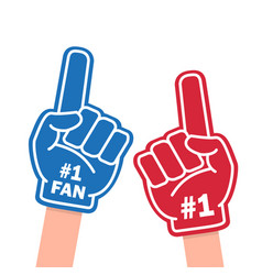 Fan foam finger vector