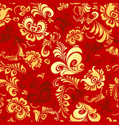 Flowers and leaves petrykivka decorative painting vector