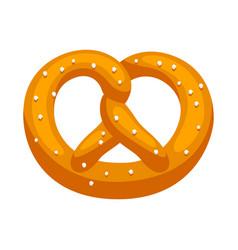 fresh baked pretzel with salt vector image