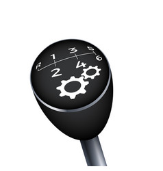 Gear knob black gearbox mechanic car transmission vector